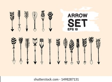 arrow traditional set collection. vector illustration