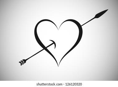 Arrow Trespassing Heart