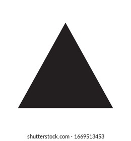 Up arrow triangle or pyramid line art vector icon for apps and websites.