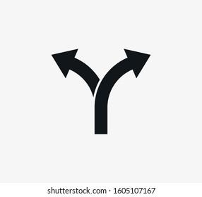 Arrow, two way direction icon. Vector illustration, flat design