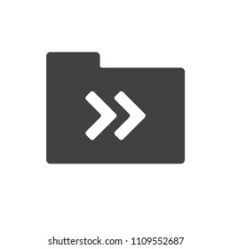 Arrow vector icon for web design in a flat style