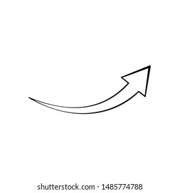 Arrow. Vector linear icon on a white background.