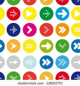 arrow vector seamless pattern