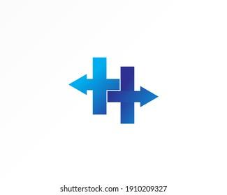 Arrow vector sign concept logo design icon