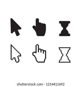 Arrow web cursors. Arrow cursor pixel for web digital