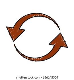 arrowa in circle shape icon