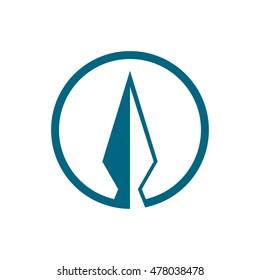 arrowhead in the circle for logo, arrowhead design logo