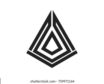 The arrowhead vector illustration logo design
