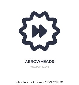 arrowheads icon on white background. Simple element illustration from UI concept. arrowheads sign icon symbol design.