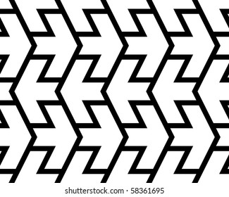 Arrows black and white seamless pattern.