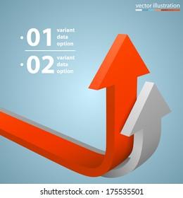 Arrows business growth, template design element, Vector illustration