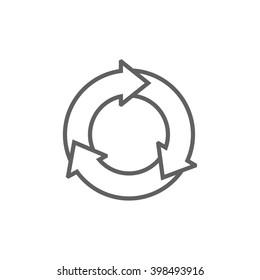 Arrows circle line icon.