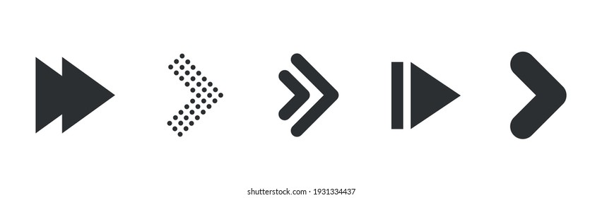 Arrows collection. Modern graphic direction signs computer screen arrows vector set