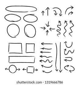 Arrows and design elements doodles