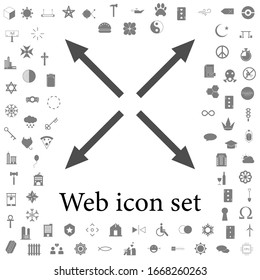 arrows in different directions icon. web icons universal set for web and mobile