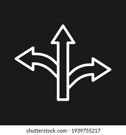 Arrows, direction, path icon vector image. Can also be used for Navigation. Suitable for use on web apps, mobile apps and print media.