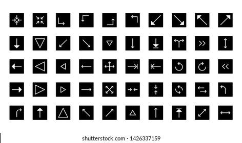 arrows glyph icon symbol set