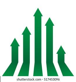 Arrows up growth vector