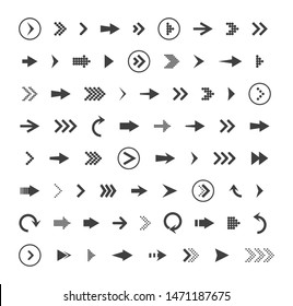 Arrows icon drawing element. Arrows set. Arrow icon. Arrow black colored. vector icon. Arrows vector collection. Vector illustration