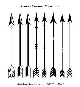 Arrows icon set for border vintage design.