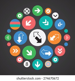 Arrows icons universal set for web and mobile