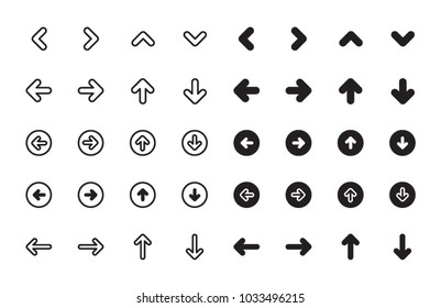 Arrows icons variety