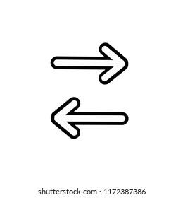 Arrows icon,vector illustration. Flat design style. vector arrows icon illustration isolated on White background, arrows icon Eps10. arrows icons graphic design vector symbols.