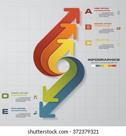 arrows infographic. Template for diagram, graph, presentation and chart. Business concept with 5 options