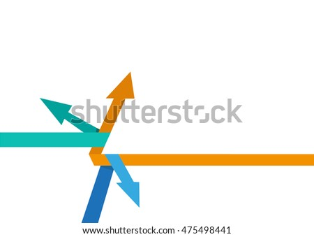 Arrows in metaphorical or abstract forms that could mean different directions, options, solutions, etc. Editable Clip Art.