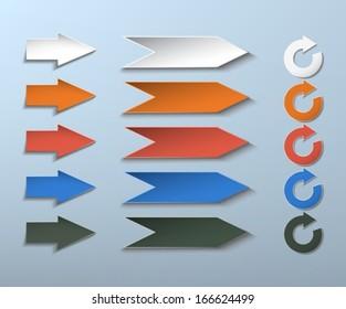 arrows. modern design elements