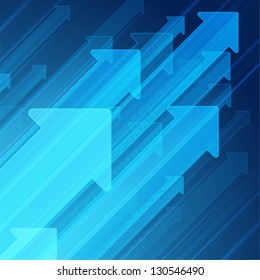 Arrows move up abstract vector background
