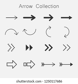 arrows on white background vector
