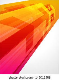 Arrows in perspective vector background. Eps 10