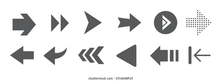 Arrows set icons. Arrow icon. Arrow vector collection. Arrow. Cursor. Modern simple arrows. Vector illustration