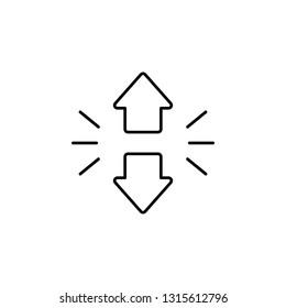 arrows, sort down, descendant icon. Element of marketing for mobile concept and web apps icon. Thin line icon for website design and development, app development. Premium icon
