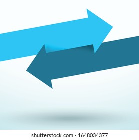 Arrows Switch Over Pointing Directions Title Space Vector