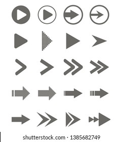 Arrows vector collection isolation on white background. Vector illustration. Flat design for business financial marketing banking advertising web concept cartoon illustration.