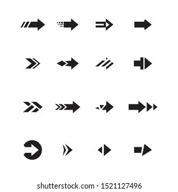 Arrows vector collection with Unique style and black color. - Vector