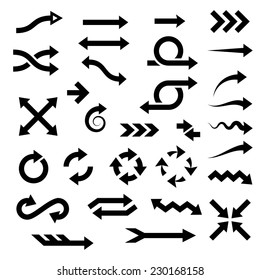 arrows. vector design elements set