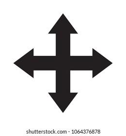 arrows vector icon sign