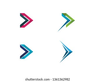 Arrows vector illustration icon Logo Template design