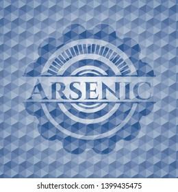 Arsenic blue polygonal emblem. Vector Illustration. Detailed.