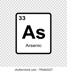 Arsenic chemical element. Sign with atomic number. Chemical element of periodic table