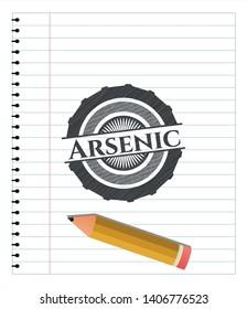 Arsenic draw (pencil strokes). Vector Illustration. Detailed.