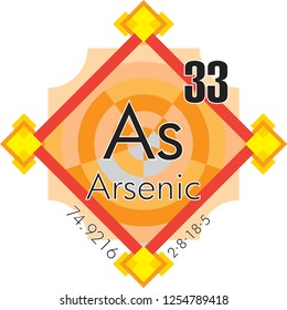 Arsenic form Periodic Table of Elements V3 - vector illustrator