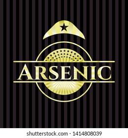 Arsenic golden emblem. Vector Illustration. Detailed.