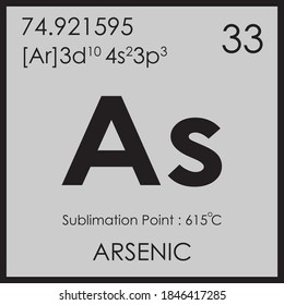 arsenic parodic table element with boiling and melting point atomic number z mass