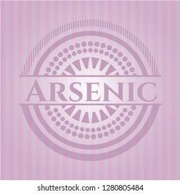 Arsenic retro pink emblem