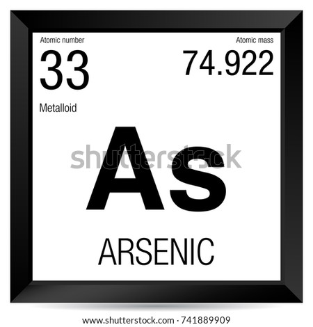 Arsenic Symbol Element Number 33 Periodic Stock Vector Royalty Free