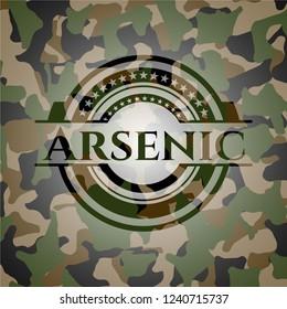 Arsenic written on a camouflage texture